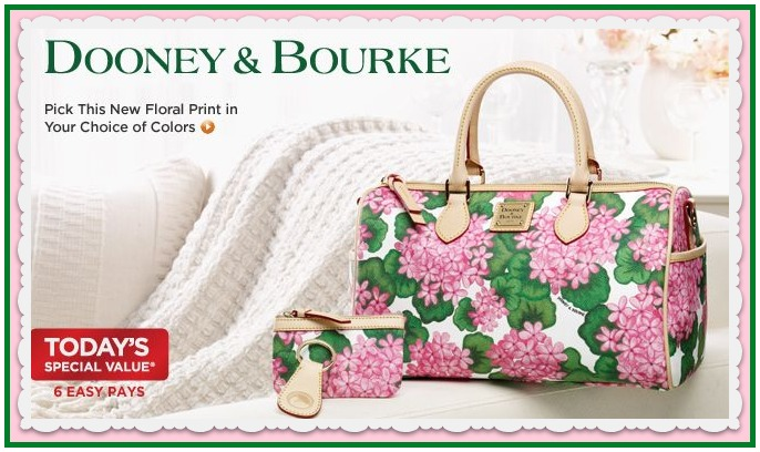 Qvc dooney amp bourke floral printed satchel with accessories under