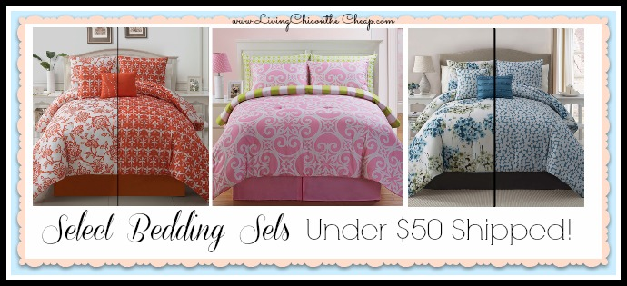 Select Bedding Sets UNDER $50 Shipped TODAY!