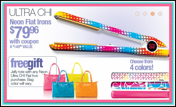 Ulta 20 off one item ultra chi neon flat iron jelly for Iron accents promo code