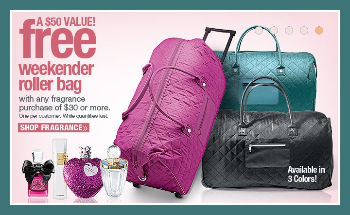 Ulta Beauty Free Quilted Weekender Roller Bag With 30 Fragrance