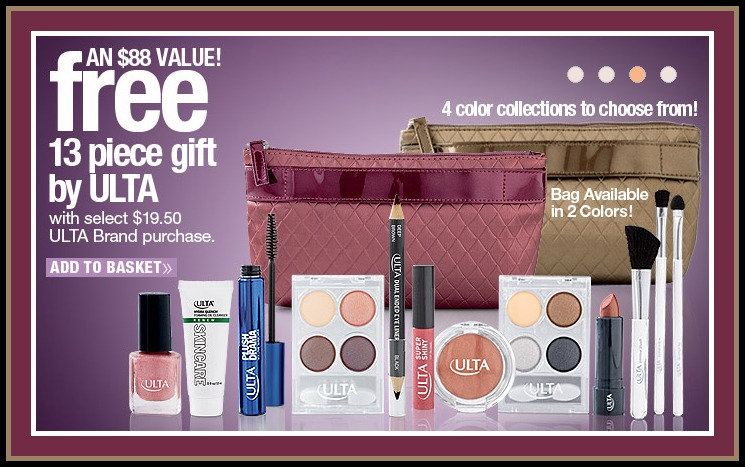 Ulta Beauty offer: Today only with any $40 purchase receive free shipping and a free 14 piece Men's Gift valued at $ No code needed, just add the set to your cart before you check out. No code needed, just add the set to your cart before you check out.