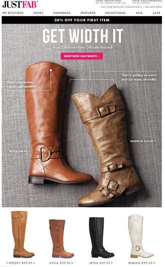 77cd9bcfa7b JustFab: New Wide Calf Boot Line ($39.95 Styles) + BOGO Free Sale + ...