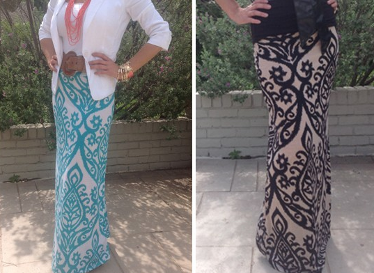 GroopDealz: Chevron & Damask Maxi Skirt Blowout Sale!