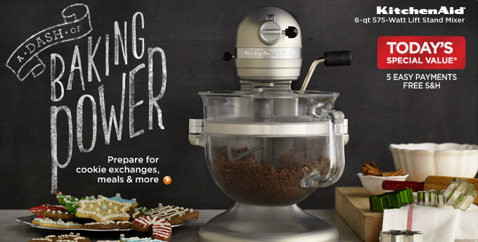 QVC: Save $94 Off a KitchenAid Stand Mixer Package + Free Shipping