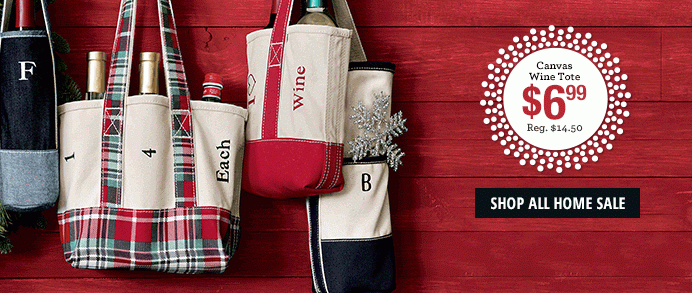 Lands End Winter Clearance Sale Canvas Wine Totes 6 99 50 Off
