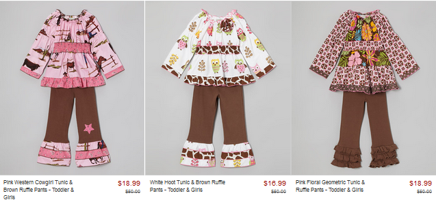 d1ae0dcf5 Zulily: Coordinating Ann Loren Outfits for Girls & Dolls SALE ...