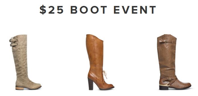 ShoeDazzle: $25 Boot Sale