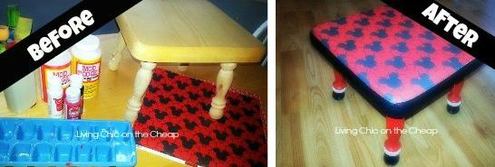 Super Decoupage Ideas Diy Mickey Mouse Foot Stool Machost Co Dining Chair Design Ideas Machostcouk