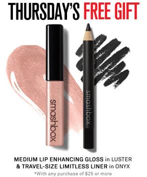 Smashbox Let's Do Lunch: FREE Lip Gloss & Eye Liner + Free