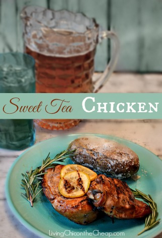 Sweet Tea Chicken by Living Chic on the Cheap