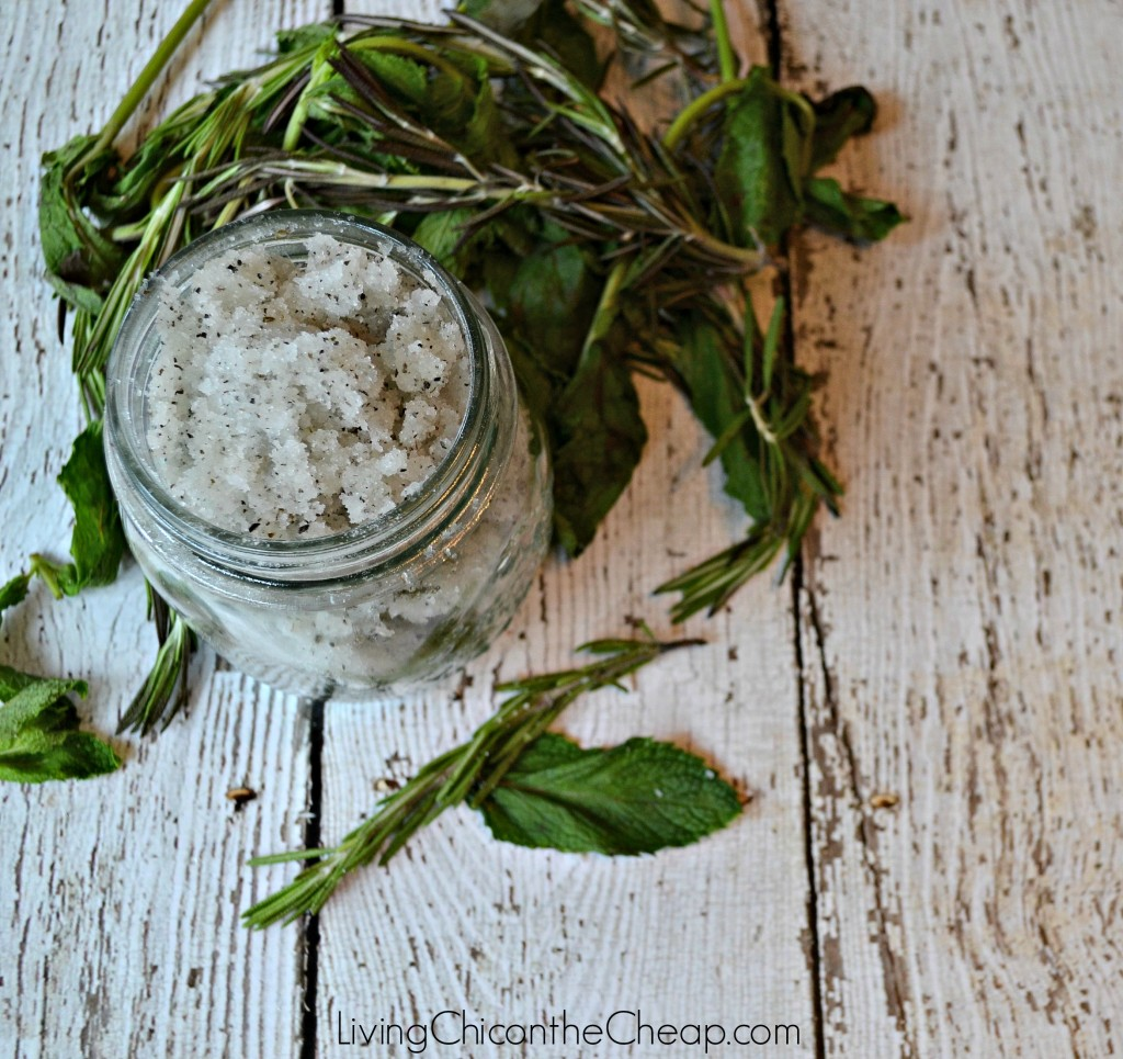 rosemary & mint sugar scrub