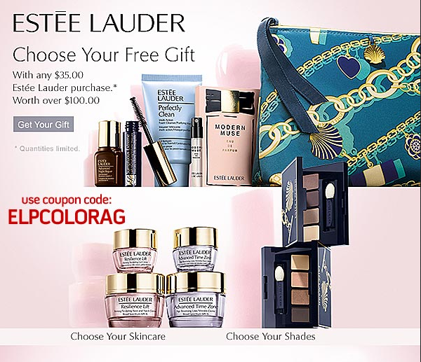 FREE Estee Lauder Gift ($100 Value) with ANY Estee Lauder Purchase of $35 or more