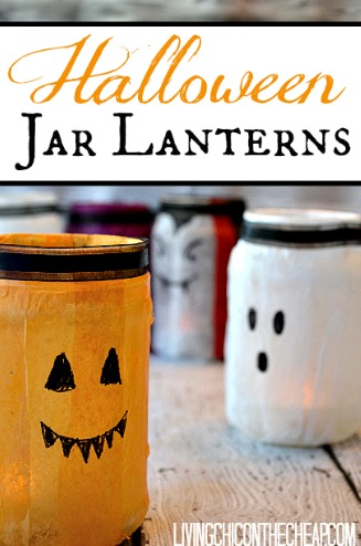diy halloween jar lanterns