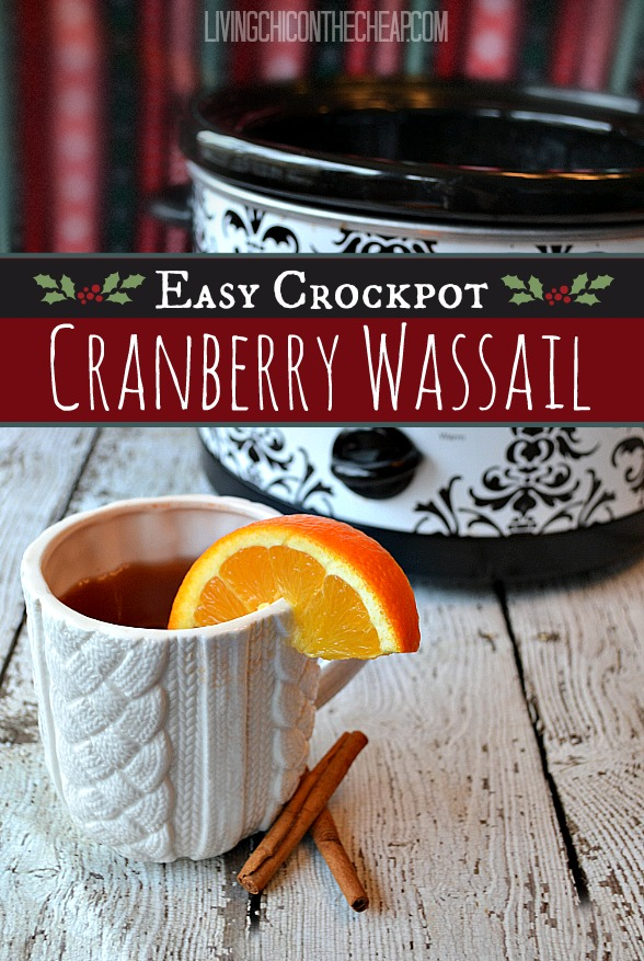My friend Cathy makes a great cranberry wassail. She brings it to all ...