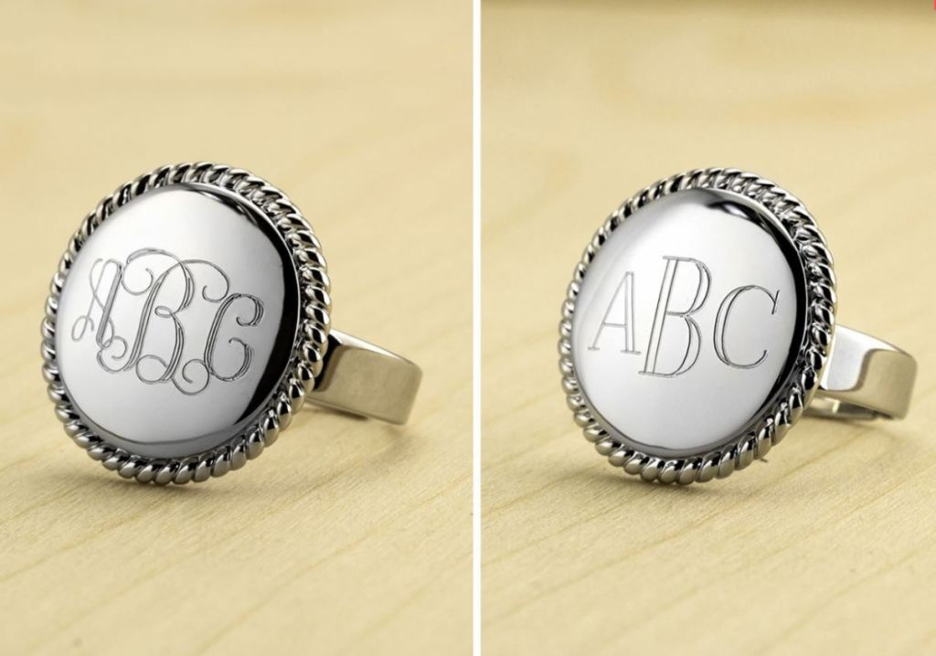eleventh avenue white gold plated monogrammed only 12 99
