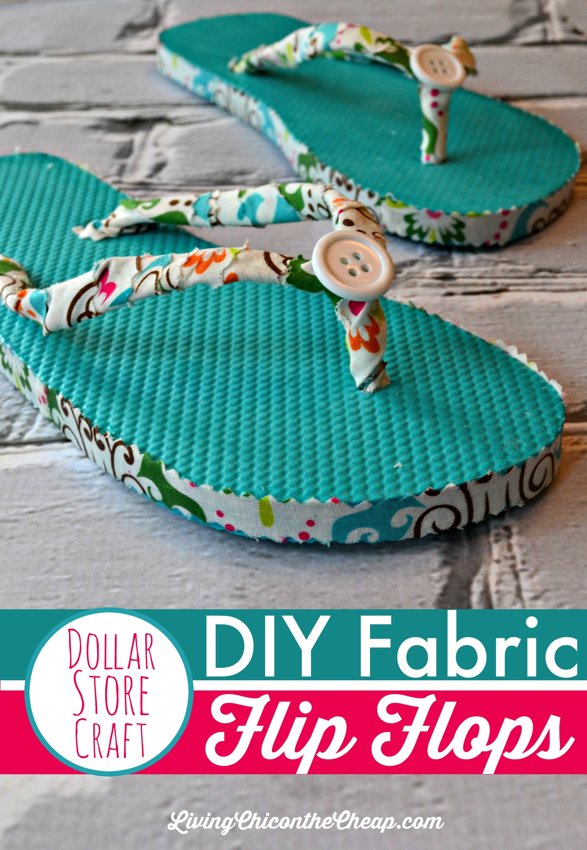 dcaf7832e DIY Fabric Flip Flops (No Sewing Required)