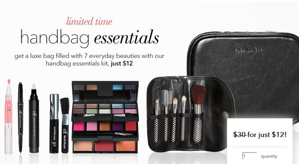 E L F Cosmetics Handbag Essentials Kit 12 Free Gift Shipping With Your 25 Purchase Ends Today