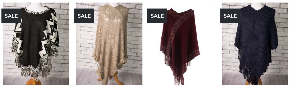 Cents of style poncho sale all styles 1495 free shipping for todays style steals deal on our poncho clearance use code giveponcho the coupon code will drop the price of all of our ponchos to 1495 free fandeluxe Choice Image