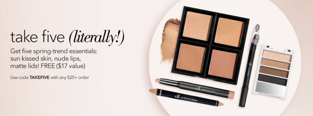 17edd9bc36c e.l.f. cosmetics: FREE Spring-Trend Essentials Gift + Free Shipping with  Your Purchase of $25 or More!