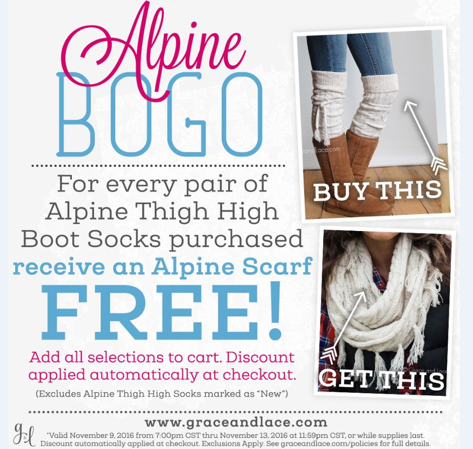 89f42c45952ea grace. Head over to Grace & Lace – for every pair of Alpine Thigh High Boot  Socks purchased ...