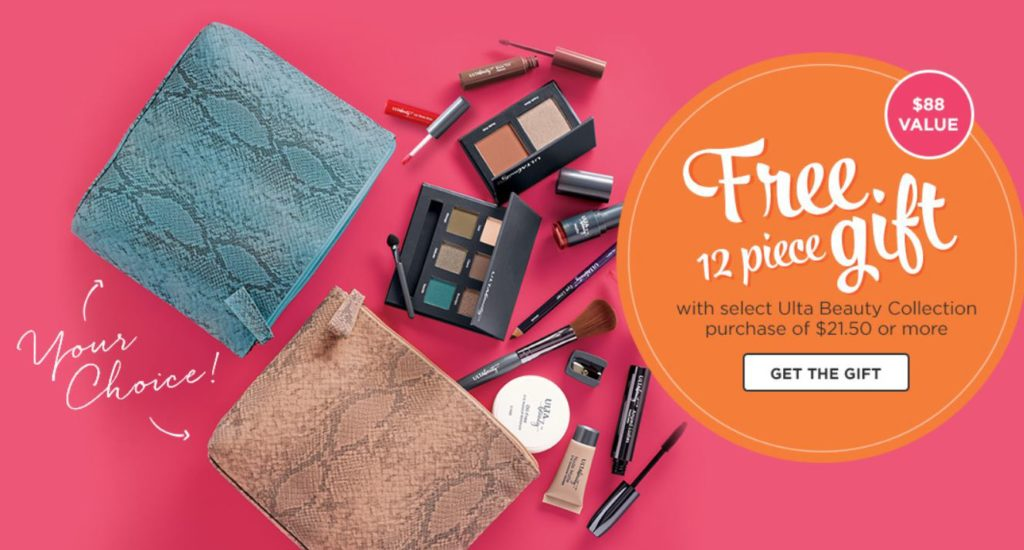 ULTA: FREE 12-pc Gift with Any $21.50 ULTA Beauty Collection Purchase!