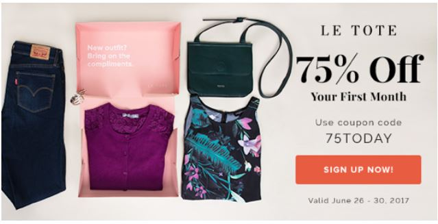 Letote Take 75 Off 1st Month Try The Fashion Service