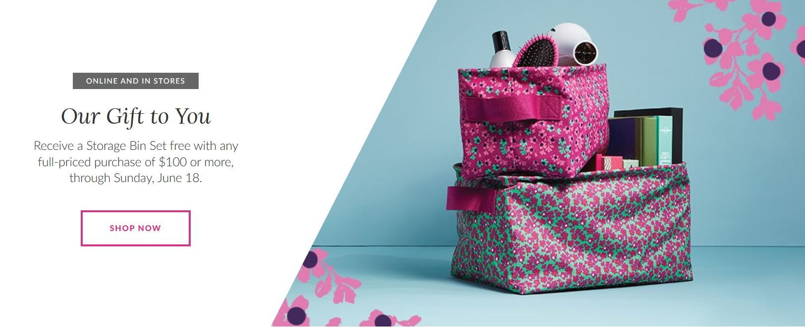 Superieur Head Over To Vera Bradley And You Can Receive A Free Storage Bin Set With  Your $100 Purchase! (Valid 6/15 6/18)