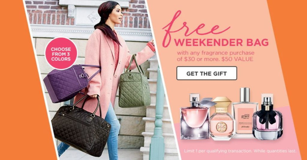 Ulta.com: FREE Weekender Bag with ANY $30 Fragrance Purchase!