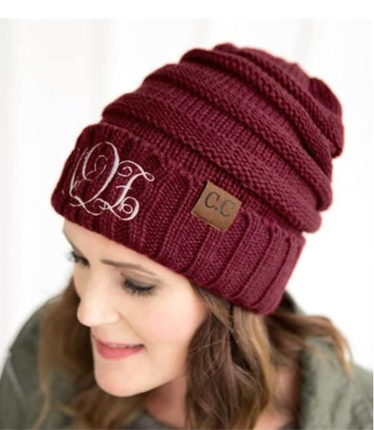 Monogrammed Beanies for just  11.99 Each! (Lots of Color Options!) 28bb2d8d973