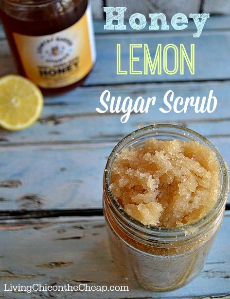 Homemade facial scrub - Exfoliate Skin with Sugar, Lemon, Honey Mix (LeHoSu)