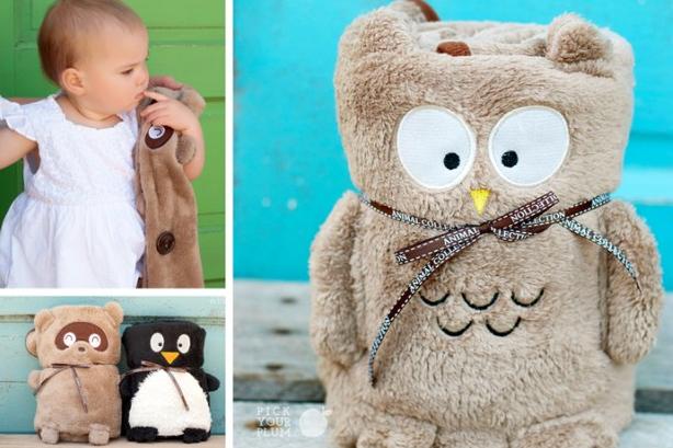 Adorable Fleece Animal Blankets Choose Rac Penguin Or Owl Blanket Only 9 99